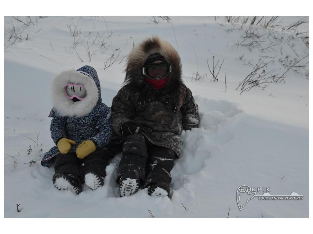 Mya & Edward on top of Ibyuk Pingo